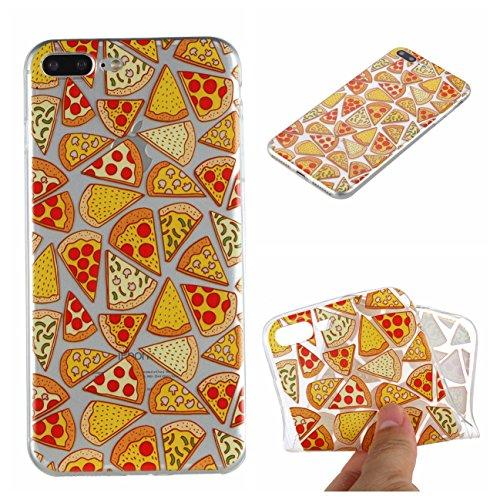 iPhone 7 Plus/iPhone 8 Plus Hülle, Voguecase Silikon Schutzhülle / Case / Cover / Hülle / TPU Gel Skin Handyhülle Premium Kratzfest TPU Durchsichtige Schutzhülle für Apple iPhone 7 Plus/iPhone 8 Plus  Pizza