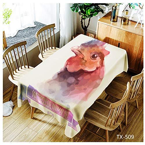 QWEASDZX Tischdecke Einfacher und moderner Polyester Digitaldruck Dekorative Tischdecke Umweltschutz Ölbeständiges Antifouling Rechteckige Tischdecke Wiederverwendbar 140x140cm (Regenbogen-farbigen Tischdecken)
