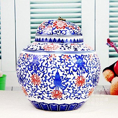 Scatola metallica di ceramica/ ornamenti mestieri domestici