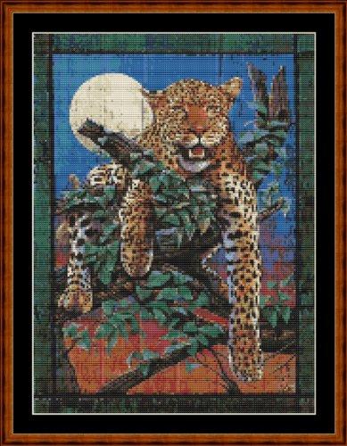 Leopardo in legno da appendere alla parete, WKD Animals-Modello per punto croce, PDF su (Ricamo Cd)