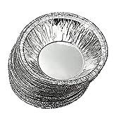 250pcs desechables cocina hornear circulares huevo Tarta latas Pastel Tazas tazas de fabricantes de molde para tartas de papel de aluminio molde redondo para tarta pastel sartenes (plata)