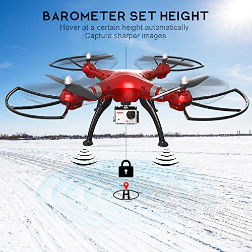 Syma X8HG (Upgrade Syma X8G) 2,4 GHz 6-Achsen-Gyro RC Ferngesteuerte Quadcopter Drone Quadrocopter Drohne mit 8MP HD-Kamera Einen Höhenstabilisator-Rote - 3