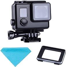 SupTig Ersatz Wasserdicht Schutz Hülle Gehäuse schwarz Touch Gehäuse für GoPro Hero 4Hero 3+ Hero3außerhalb Sport Kamera für Unterwasser Wasser nutzen, hitzebeständig bis 147FT (45m)