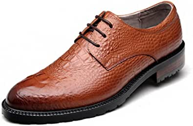 Scarpe Oxford Scarpe da Uomo di Alta qualità Modello di Coccodrillo Sbalzato Scarpe di Cuoio Stile Europeo Business Casual Ufficio Giornaliero