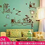 MALUZI Regalos de Navidad minimalista de pared a la apariencia estética de las habitaciones son autoadhesivas ,luz Gorée Cuadro foto , rey