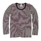 Cosilana Kinder Unterhemd Größe 128 in geringelt Pflaume-Natur - Verkauf von Wollbody
