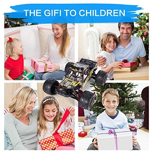 RC Auto kaufen Truggy Bild 6: GPTOYS Ferngesteuertes Fahrzeug RC Autos 1:12 Skala 2WD 2.4 GHz 26+MPH Halb-Wasserdicht Monstertruck Geländewagen --- Geschenk für Kinder*