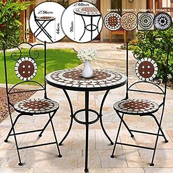 Dszapaci Chaise de Jardin Mosaic Chaise Pliante Balcon