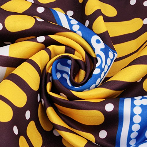 Novias Boutique  Damen A-Linie Rock Yellow&Blue