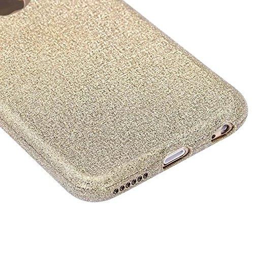 """iPhone 7 PC Dur Coque,iPhone 7 Briller Étui Housse,Etsue - Luxe Élégant Bling Brillant Joli Broderie Papillon Motif Dur Hard Case Coque Cover Couverture pour iPhone 7 4.7"""" + 1 x Bleu stylet + 1 x Blin Doré"""