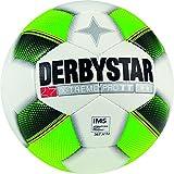 Derbystar Fußball X-Treme Pro TT, Trainingsball, Ball Größe 5 (420-440 g), weiß grün gelb, 1119