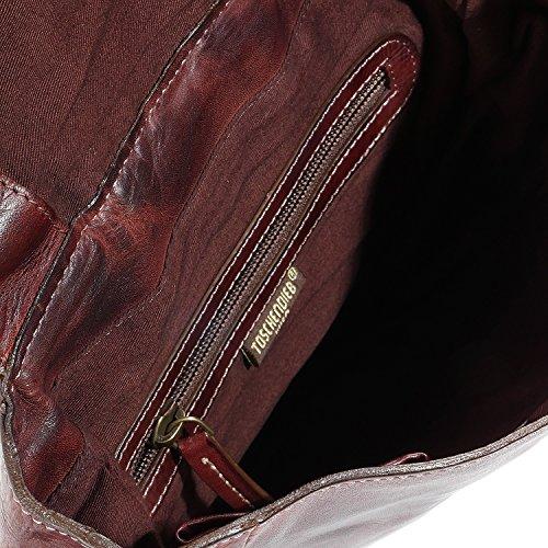 Taschendieb Wien Sac bandouliére cuir 26 cm schoko