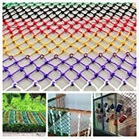 Safety Net Kids Protective Safety Protection Colorful Protective Net,Protection Net,Child Safety Net Nylon Outdoor Woven Rope Climbing Stair Anti-fall Railing Balcony For Indoor Fence Banister Playgro