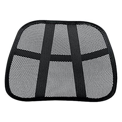 Vinsani Super Comfort Mesh Lumbar Back Seat Sit Support System Pain Relief for Office Chair Seat etc with Elasticated Positioning Strap - inexpensive UK light shop.