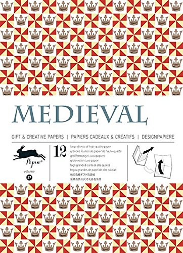 12 gift wrapping paper book Medieval : Volume 37 (Gift & Creative Papers) por Pepin Van Roojen