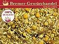 Kamillenblüten Kräutertee, Kamillenblütentee, für Tee, Aufgüsse, Sitzbäder, zum Dekorieren, 100g von Bremer Gewürzhandel - Gewürze Shop