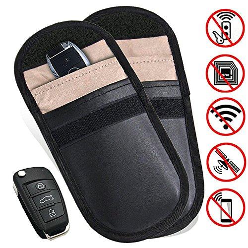 gzq 2KFZ Schlüssel Signal Blocker Fall Keyless Entry Signal RFID-blockierender Tasche Tasche Kreditkarte Displayschutzfolie Diebstahl Lock Geräte -