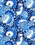 Clairefontaine Decopatch Papier No. 579 (blau weiß Pfauenfeder, 395 x 298 mm)...