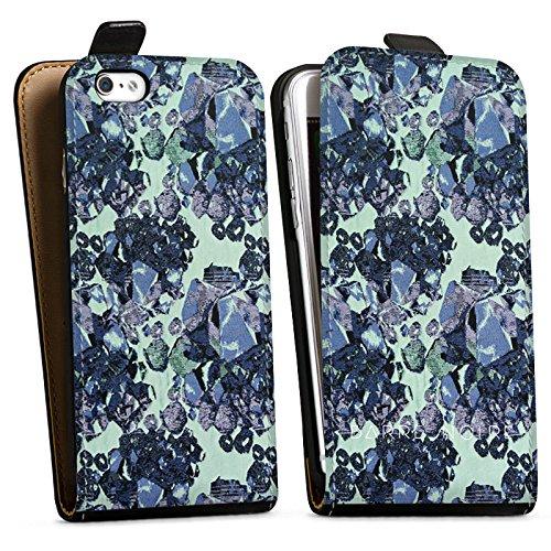 Apple iPhone X Silikon Hülle Case Schutzhülle steine edelsteine frühling Downflip Tasche schwarz