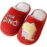 Pantofole Ragazzo Simpatiche Dinosauro Scarpe da Casa per Bambini Chiuse Davanti Slippers Ospiti Invernali