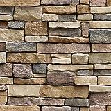 Prevently Simulation Ziegel Wandaufkleber 3D Tapete Mauerwerk antiken Effekt selbstklebende Aufkleber Home Improvement Home Dekoration (Mehrfarbig)