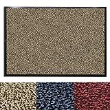 casa pura® Premium Fußmatte für Eingangsbereiche | Schmutzfangmatte in 6 Größen | beige - meliert | 60x90cm