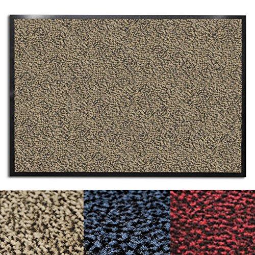 casa pura® Premium Fußmatte für Eingangsbereiche | Schmutzfangmatte in 6 Größen | beige - meliert | 120x180cm