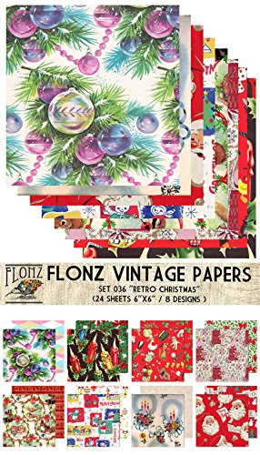 Vintage Style Wrapping Papers - 24 Sheets, double-sided