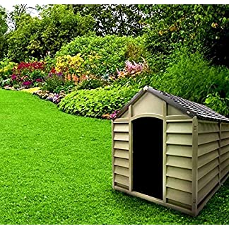 Dog Kennel Large Media cucce Resin Outdoor Garden PVC Pitched Roof for Removable 78x 84x 80cm beige/brown Dog Kennel Large Media cucce Resin Outdoor Garden PVC Pitched Roof for Removable 78x 84x 80cm beige/brown 61qWUGx4CcL