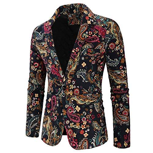 MAYOGO Jacke Männer Vintage Anzug Sakko Eine Taste, Anzuege Herren Slim fit 2018 Mode Retro Winter Sale Jacke Mantel Overcoat Outwear M-XXXL (Rosa Anzug Jacke Herren)