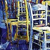 1art1 42052 Voka - Bunte Stühle Poster Kunstdruck 70 x 70 cm