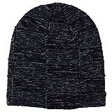 GreatestPAK Loop Schal Herren Damen warme Anzüge Plus Plissee Knit Hat Schal,Schwarz