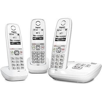 a897aeee0575dc Gigaset AS470A Trio - Téléphone fixe sans fil - Répondeur - 3 combinés -  Blanc