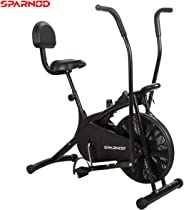 Sparnod Fitness SAB-05 Air Bike Exercise Cycle for Home Gym - Dual Action for Full Body Workout (Setting for Moving/Stationar