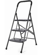 Bathla Boost 3-Step Foldable Steel Ladder with Anti-Slip Steps
