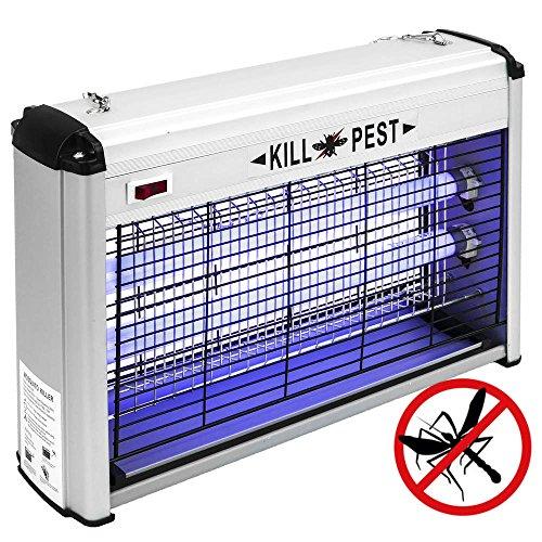 PrimeMatik - Matamoscas Eléctrico Lámpara Mata Insectos voladores y Moscas 20 W