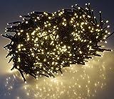 LED Büschel-Lichterkette Cluster IP44 für Innen und Außen, 10m Zuleitung MULTICOLOR, 8 Effekte, (Warmweiß, 8 Meter)