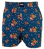Happy Shorts Webboxer Herren Weihnachten Boxer Christmas Motiv Boxershorts, Grösse:S - 4-48, Farbe:Design 03