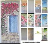 Bambusvorhang Türvorhang, Insektenschutzvorhang, 90cm x 200cm mit Aufhängeleiste, Innen und außen, mehrere Modelle, von MadeInNature® (Modèle 7 Soleil du sud)
