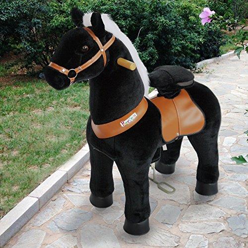 Preisvergleich Produktbild PonyCycle ORIGINA Dynamische Fortbewegung Pony auf Rädern Schwarzes Pferd Klein