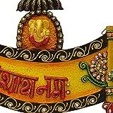 Shree Dhara Wooden & Paper Mache Shree Ganeshay Namah With Kundan Work best price on Amazon @ Rs. 1130