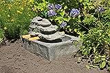 VARILANDO Garten-Brunnen aus Polyresin Springbrunnen Vogeltränke Vogelbrunnen