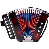 YeahiBaby Jouet Accordéon pour Enfants Piano Jouet éducatif pour accordéon Solo et Ensemble d'instruments (Noir)