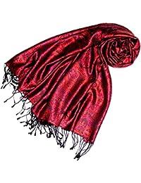 22de5f6f22e4 Lorenzo Cana Pashmina pour la femme - écharpe de 100% soie avec les mesures  de 70 x 190 cm - fait à la main –…
