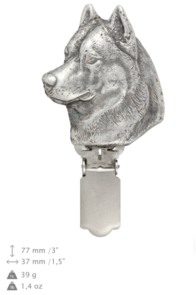 Siberian Husky, Brooch with Clip Dog Show Exhibit Number Holder Silver Plated Clipring – ArtDog