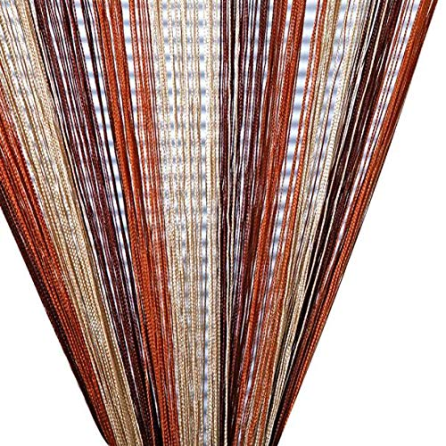 DOGZI Duschvorhang Anti Schimmel Textil Bunt Badaccessoires - Line String Fenster Vorhang Tassel Tür Raumteiler Schal Valance (Tassel Duschvorhang)