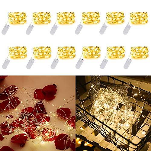 atteriebetriebene Warm White Mini-Lichter Batterie angetriebene feenhafte Schnur-Licht-10Ft 30 LED Mini Firefly-Lichter für Hochzeit Crafts Tisch Empfang Gläser Vasen Weihnachten ()