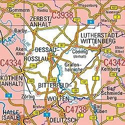 C4338 Dessau-Roßlau Topographische Karte 1 : 100 000: DTK 100 Sachsen-Anhalt