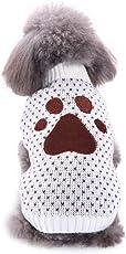 Upxiang Haustier Hund Pullover Welpen Winter Warm Footprint Pullover Mantel Hund Fuß Drucke Katze Kostüm Bekleidung