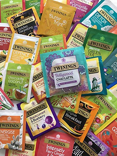 Twinings Mix Tea Sachets - Random Selection of 20 Sachets (1 Sachet of Each Variety) + 1 Chai Late - Sample Taster Pack